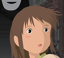"""""""Don't be such a scaredy cat, Chihiro"""" - Spirited Away Art by TheCSimmons"""
