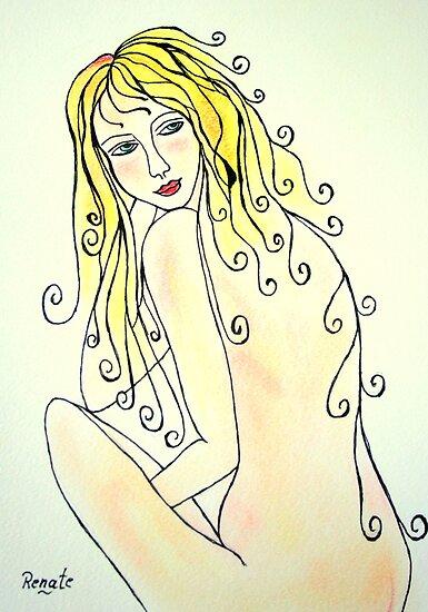 The glow of a Woman...( please read description)  by Renate  Dartois
