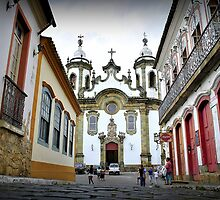 Colonial square in the historic town center by mykosky