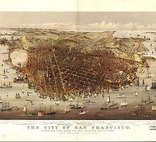Vintage Pictorial Map of San Francisco (1878)  by BravuraMedia