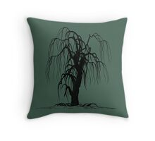 Weeping Willow, Willow Tree Throw Pillow
