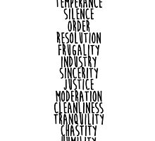 13 Virtues by patriotwordsusa