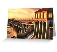 Overholser Dam  Greeting Card