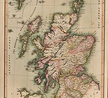 Vintage Map of Scotland (1814)  by BravuraMedia