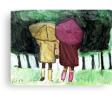 Two Umbrellas Canvas Print