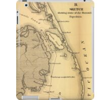 Vintage Map of The Outer Banks (1862) iPad Case/Skin