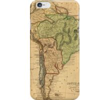 Vintage Map of South America (1821) iPhone Case/Skin