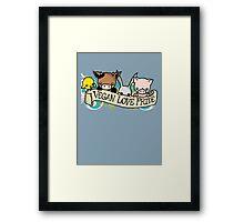 Vegan Love Pride Framed Print