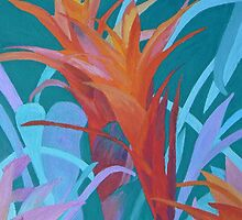 A Pattern of Bromeliads by Margaret Saheed