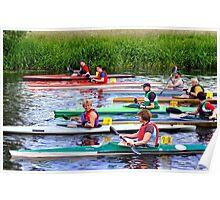 Burton Canoe Race, The Start Poster