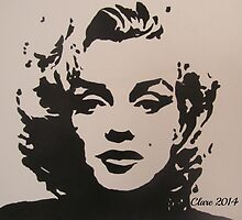 Marilyn Monroe by Clare Shailes