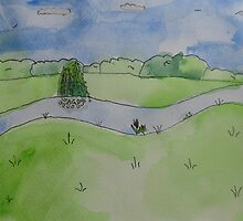 Watercolour Landscape, Erewash Canal by laineymiller