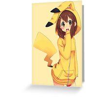 K-ON x Pikachu Greeting Card