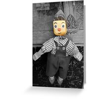 old wooden puppet Greeting Card