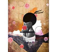 Contemporary fashionistas floral collage Photographic Print