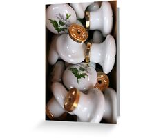 old furniture knobs Greeting Card