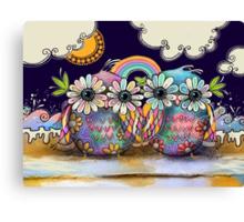 Aloha Owls Canvas Print