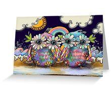 Aloha Owls Greeting Card