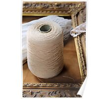 skein of wool and frame Poster
