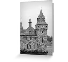 castle on the island Greeting Card