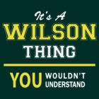 It's A WILSON thing, you wouldn't understand !! by satro
