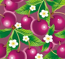 Cherry background by maystra