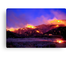 Palomino Valley Wild Fire (The Ironwood Fire) Canvas Print
