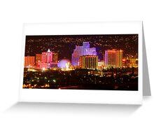 Sunday Night Downtown Reno Greeting Card
