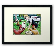 Long Live The Chickens Framed Print