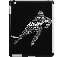Hockey Languages Typography iPad Case/Skin