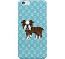 Brindle English Bulldog Dog Cartoon iPhone Case/Skin