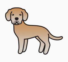 Yellow Labrador Retriever Cartoon Dog Kids Clothes