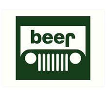 Beer Jeep Art Print