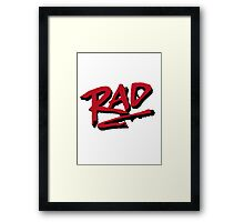 RAD 1980 BMX MOVIE Framed Print