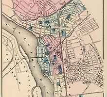 Vintage Map of Trenton NJ (1872) by BravuraMedia