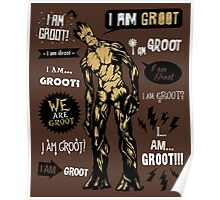 Groot Famous Quotes Poster