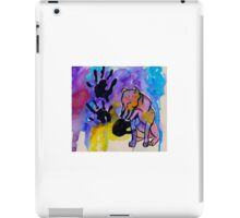 pit bull hand print iPad Case/Skin