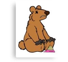 Sad Bear is sad Canvas Print