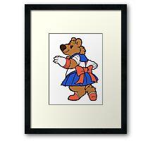 Pretty Sailor Bear Framed Print