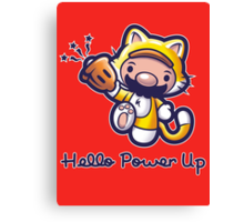Hello Power Up Canvas Print
