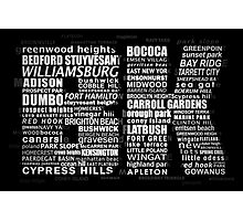 Typographic BK Brooklyn New York Photographic Print