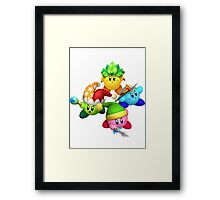 Four Kirbys Framed Print