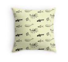 Aquatic life pattern Throw Pillow