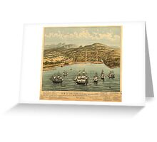 Vintage Pictorial Map of San Francisco (1884)  Greeting Card