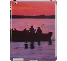 Fishing in the sunset iPad Case/Skin