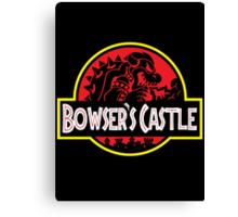 Bowser's Jurassic Castle Canvas Print