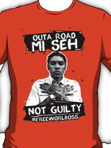 Out A Road #FREEWORLBOSS BLACK T-Shirt