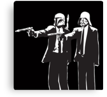 Pulp Fiction-Darth & Boba Hit Men Canvas Print