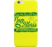 EVA BLESS #FREEWORLBOSS GREEN iPhone Case/Skin