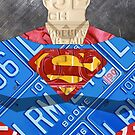 Superman Man of Steel License Plate Art by designturnpike